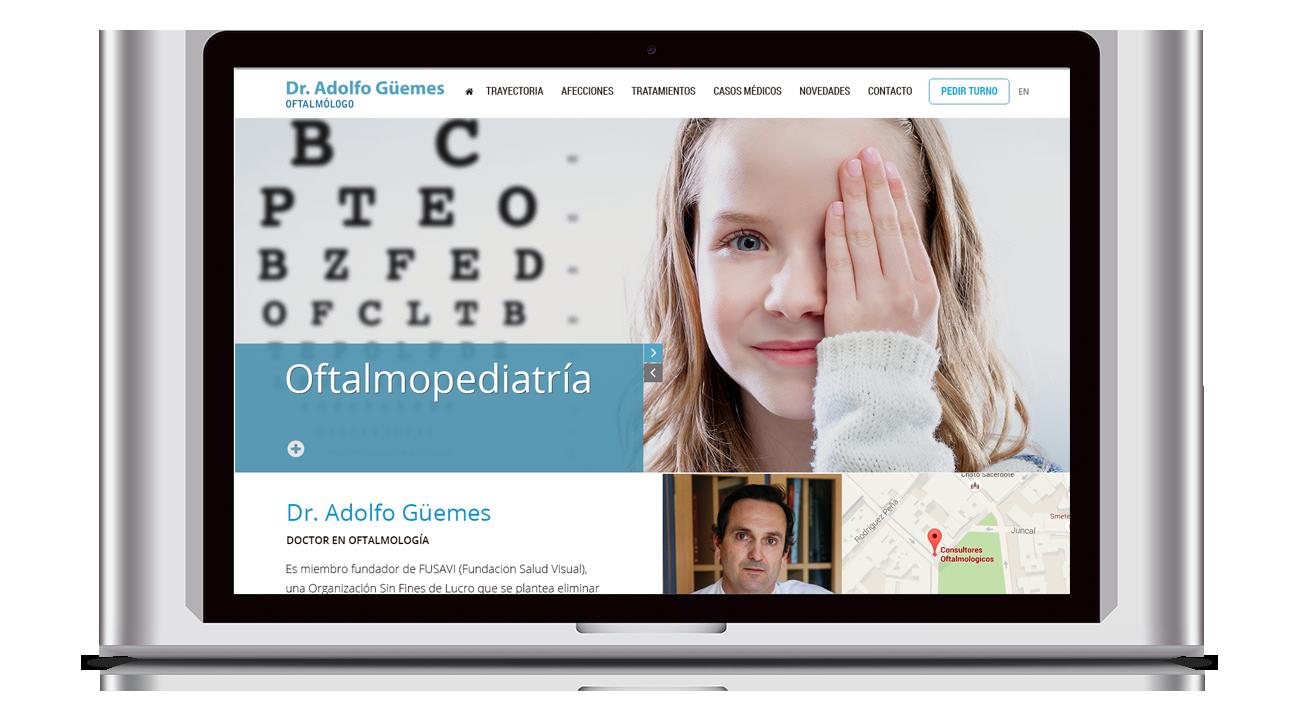 Dr. Adolfo Güemes Diseño Web