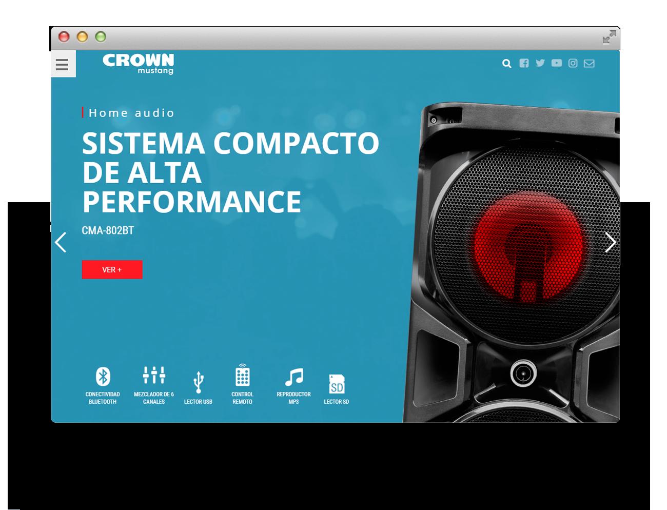 Crown Mustang Diseño Web