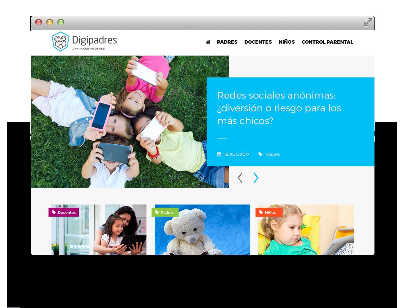 Eset Latinoamérica Diseño Web