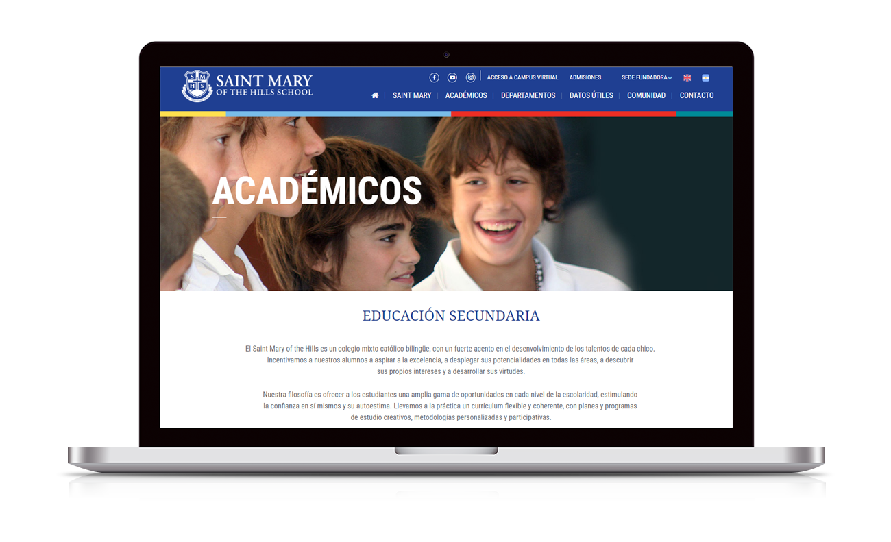 Saint Mary of the Hills School Diseño Web
