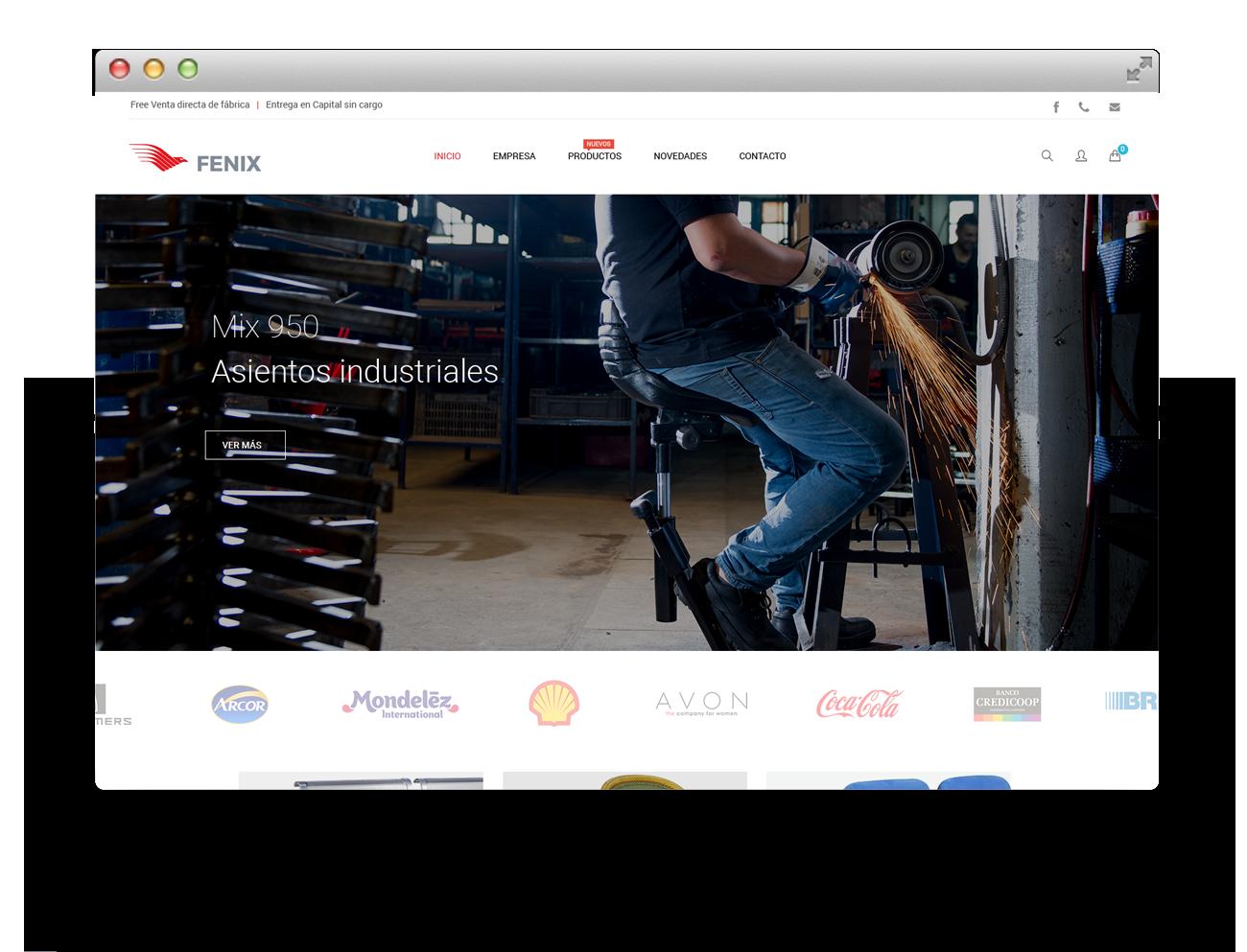 Sillas Fenix Diseño Web