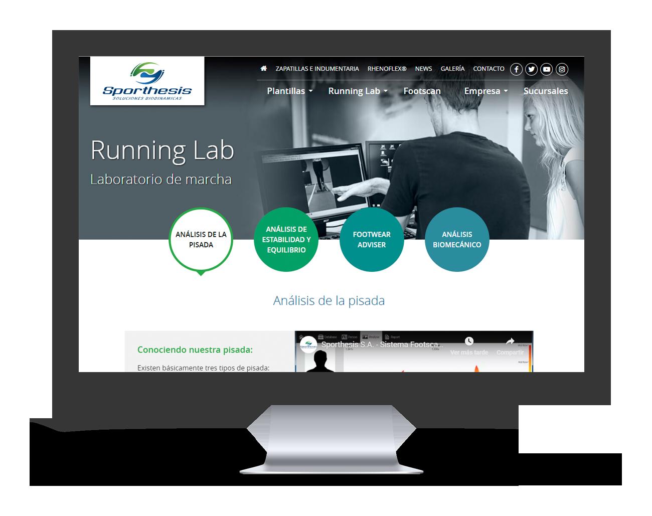 Sporthesis Diseño Web